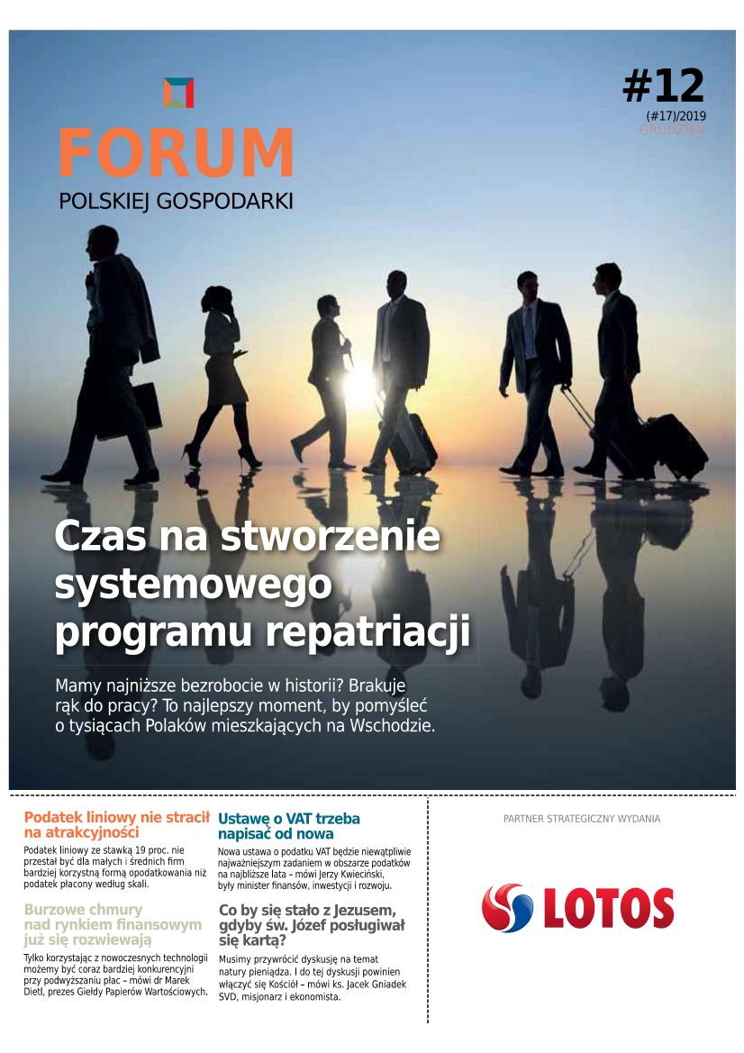 Nowy numer Forum Polskiej Gospodarki - już w poniedziałek 23 grudnia wraz z GPC